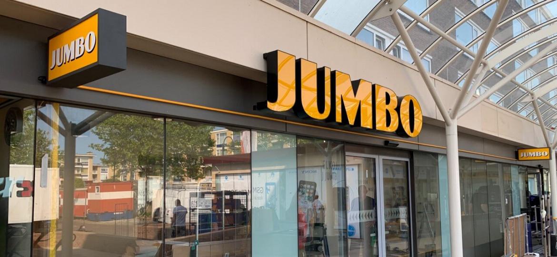 LED lichtbak en doosletters voor Jumbo supermarkten